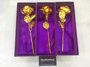 Quà tặng 20/11 độc đáo tri ân Thầy cô - Hoa hồng 3D mạ vàng đẹp tinh xảo - MSN383086
