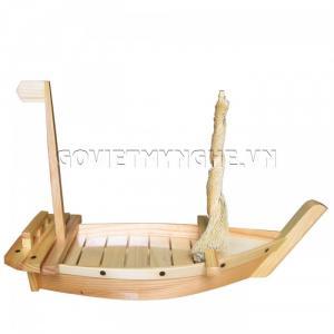Khay gỗ, Thuyền gỗ SUSHI Nhật Bản 50cm(Gỗ Tự Nhiên)