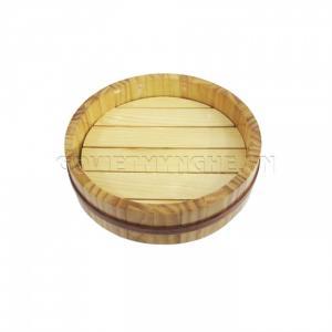 Khay Tròn Gỗ Sashimi - Sushi Nhật Bản 20cm (Gỗ Tự Nhiên)