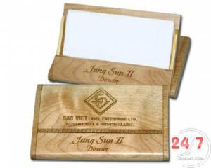 Namecard gỗ để bàn khắc logo công ty số lượng lớn giá cực tốt
