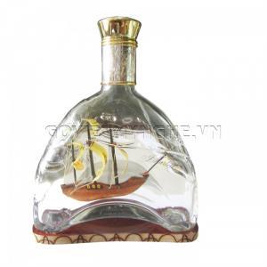 Mô hình Thuyền trong chai Martell X.O thủy tinh N2