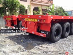 rơ mooc sàn tải cao cimc nhập khẩu nguyên chiếc