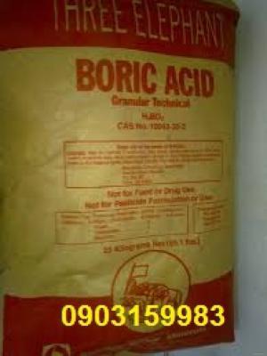Bán acid boric - H3BO3 - dùng trong công nghiệp
