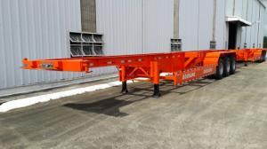 Rơ mooc sàn Doosung loại 3 trục, 1 trục nâng hạ tải trọng cao mẫu 2016