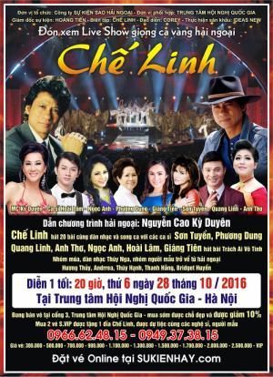 Địa điểm bán vé xem liveshow Chế Linh Hà Nội 2016