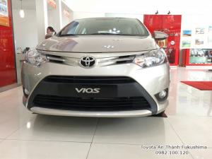 Khuyến Mãi Toyota Vios 2018 Số Tự Động CVT 7 cấp, Màu Nâu Vàng. Mua Trả Góp Chạy Uber Grab 90Tr