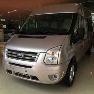 Ford Transit Mid 2013, màu Hồng phấn, sử dụng kỹ