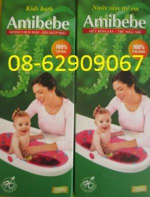 BÁN NƯỚC TẮM AMIBEBE- Giúp em bé hết rôm sảy, ăn ngủ tốt