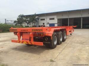 Moóc sàn DOOSUNG Hàn Quốc loại chở Container tải trọng 31.8 tấn, 3 trục