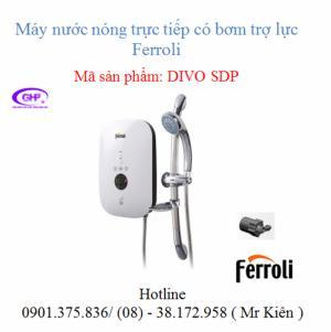Máy nước nóng trực tiếp có bơm trợ lực Ferroli Divo SDP