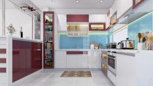 Tủ bếp kết hợp đảo bếp hiện đại