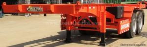 Rơ mooc xương Doosung loại 3 trục tải trọng cao 33.1 tấn, hàng mới 2016