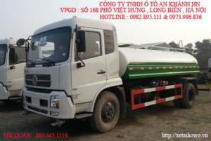 Xe phun nước rửa đường ,tưới cây Dongfeng 9 khối nhập