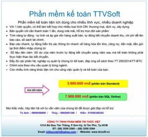 Phần mềm kế toán ttvsoft – chất lượng – dịch vụ tốt