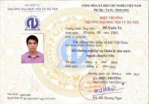 Chứng chỉ Quản lý nhà nước phục vụ kỳ thi vào công chức nhà nước