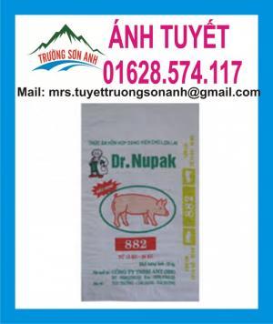 Bao thức ăn gia súc pp dệt trắng sữa