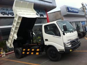 Gía xe tải tự đổ Hino WU342L tải trọng 5 tấn, nâng hạ thùng hàng