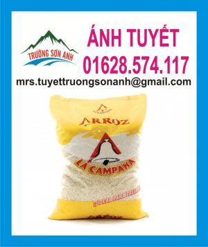 Bao đựng gạo 50kg ghép màng OPP in ống đồng