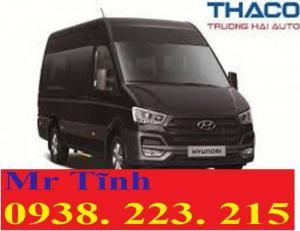 Thông số xe 16 chỗ thaco mới; thông số xe khách 16 chỗ hyundai h350 thaco