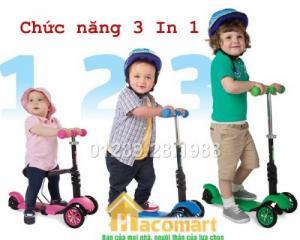 Xe trượt scooter 3in1 3 giai đoạn cho bé