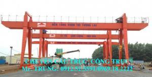 Cổng trục dầm đôi Q=20/5 tấn - Nhiệt điện Long Phú, Sóc Trăng