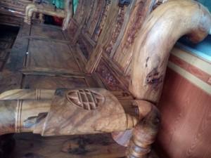 Bộ bàn ghế xịn gỗ bách xanh