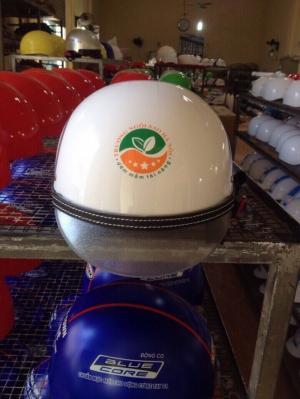 mũ bảo hiểm tròn in logi