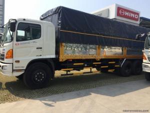 Xe tải Hino 3 chân FL8JTSA thùng mui bạt 16 Tấn