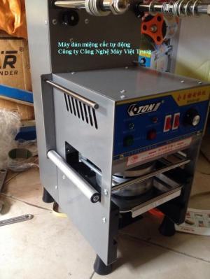 Máy dán miệng cốc ET-Q7, máy dán miệng cốc tự động, máy dán cốc nước mía.