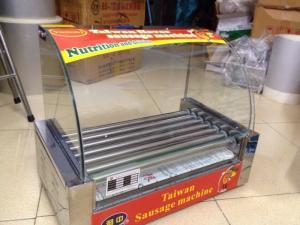 Bán máy nướng xúc xích HX-7, máy nướng xúc xích kính cong