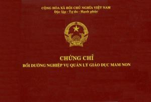 Đào tạo cấp chứng chỉ Quản lý trường mầm non tại Đồng Nai