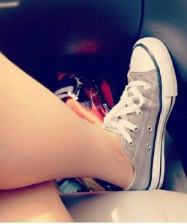 Giày  xám thấp cổ