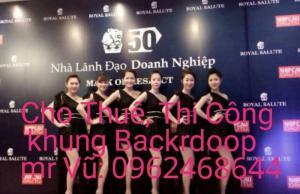 longvumedia chuyên cung cấp cho thuê khung bạt backdrop 0962468644