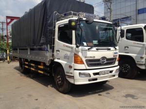 Bán xe tải Hino FC9JJSW xe mới, màu trắng, xe tải 6 tấn Hino