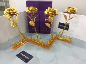 Hoa Hồng 3D Mạ Vàng LOVE - MSN383087