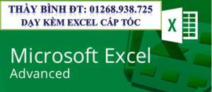 Lớp Excel trực tuyến cho người đi làm.