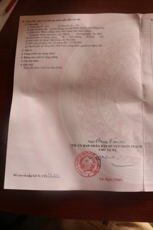 Đất chính chủ cần bán gấp thuộc Xã Phú Đông, huyện Nhơn Trạch, Đồng Nai