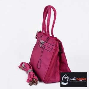 Balo Túi Xách may gia công mẫu Túi xách nữ thời trang màu hồng dành cho các bạn gái trẻ trung