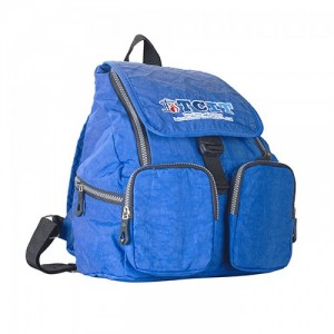 Mẫu balo có 2 túi phía trước cùng quai đeo sau với màu xanh dương cá tính
