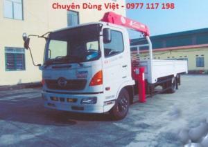 Xe tải Hino FCJL gắn cẩu unic 5 tấn 3 đốt,...