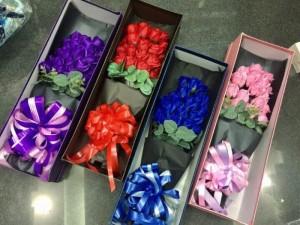 Hộp quà tặng hoa hồng sáp thơm bông đại