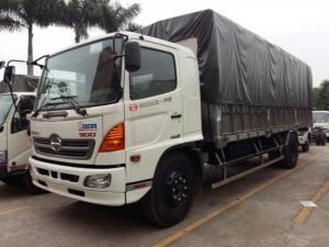 Xe tải hino FG thùng 8.8m, Chuyên đóng thùng: Thùng kín, Mui bạt, Lửng, tải cẩu, Đông lạnh, Bảo ôn, Chở gia súc, gia cầm, chuyên dùng khác,….   Kích thước xe : 10820 x 2500 x 3550 mm Kích thước lòng thùng hàng: 8540 x 2350 x 775/2150 mm Động cơ : J08E-UG, 7684  cm3, 4 kỳ, 6 xi lanh thẳng hàng, tăng áp