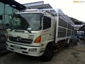Xe tải hino FG thùng 8.8m, Chuyên đóng thùng: Thùng kín, Mui bạt, Lửng, tải cẩu, Đông lạnh, Bảo ôn, Chở gia súc, gia cầm, chuyên dùng khác,…. Tổng tải 15 tấn, tải trọng 9.4 tấn. Kích thước xe : 10820 x 2500 x 3550 mm Kích thước lòng thùng hàng: 8540 x 2350 x 775/2150 mm Động cơ : J08E-UG, 7684  cm3, 4 kỳ, 6 xi lanh thẳng hàng, tăng áp