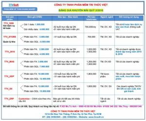 Phần mềm TTVSOFT -  Phần mềm quản lý kho, công nợ