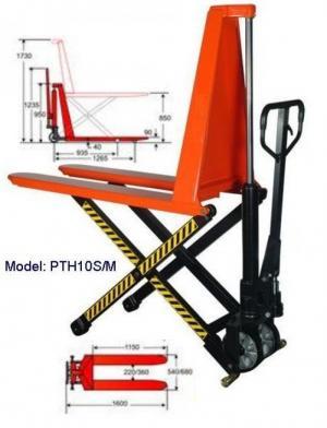 Xe nâng tay cao PTH10M ( càng rộng)