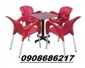 Trực tiếp sản xuất bàn ghế cafe nhựa đúc giá rẻ