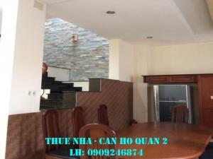 Cho thuê biệt thự đường 41 Trần Não Q2, 200m2, giá 32tr/tháng
