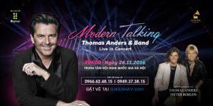 Mua vé Liveshow Modern Talking Viet Nam 26/11/2016 tại Hà Nội