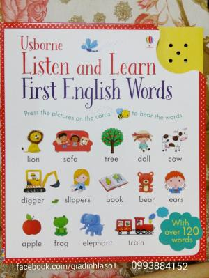 Sách Tiếng Anh Usborne Listen and Learn First English Words cho bé học từ vựng