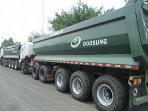 Sơmi rơ móoc ben DOOSUNG 28,8 tấn thùng 24 khối (m3), Rơ mooc tải tự đổ Doosung